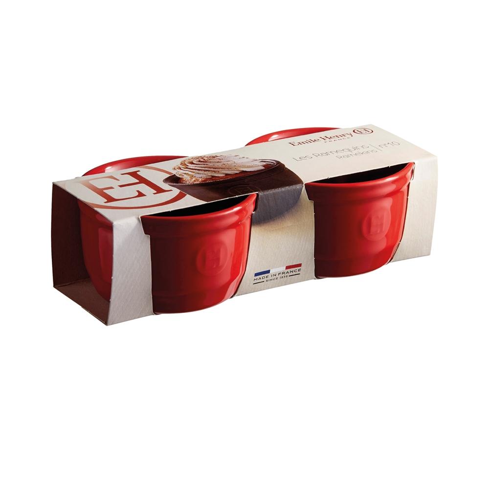 Набор порционных форм для запекания Emile Henry, 10,5 см, красный, 2 штуки Emile Henry 344010 фото 1