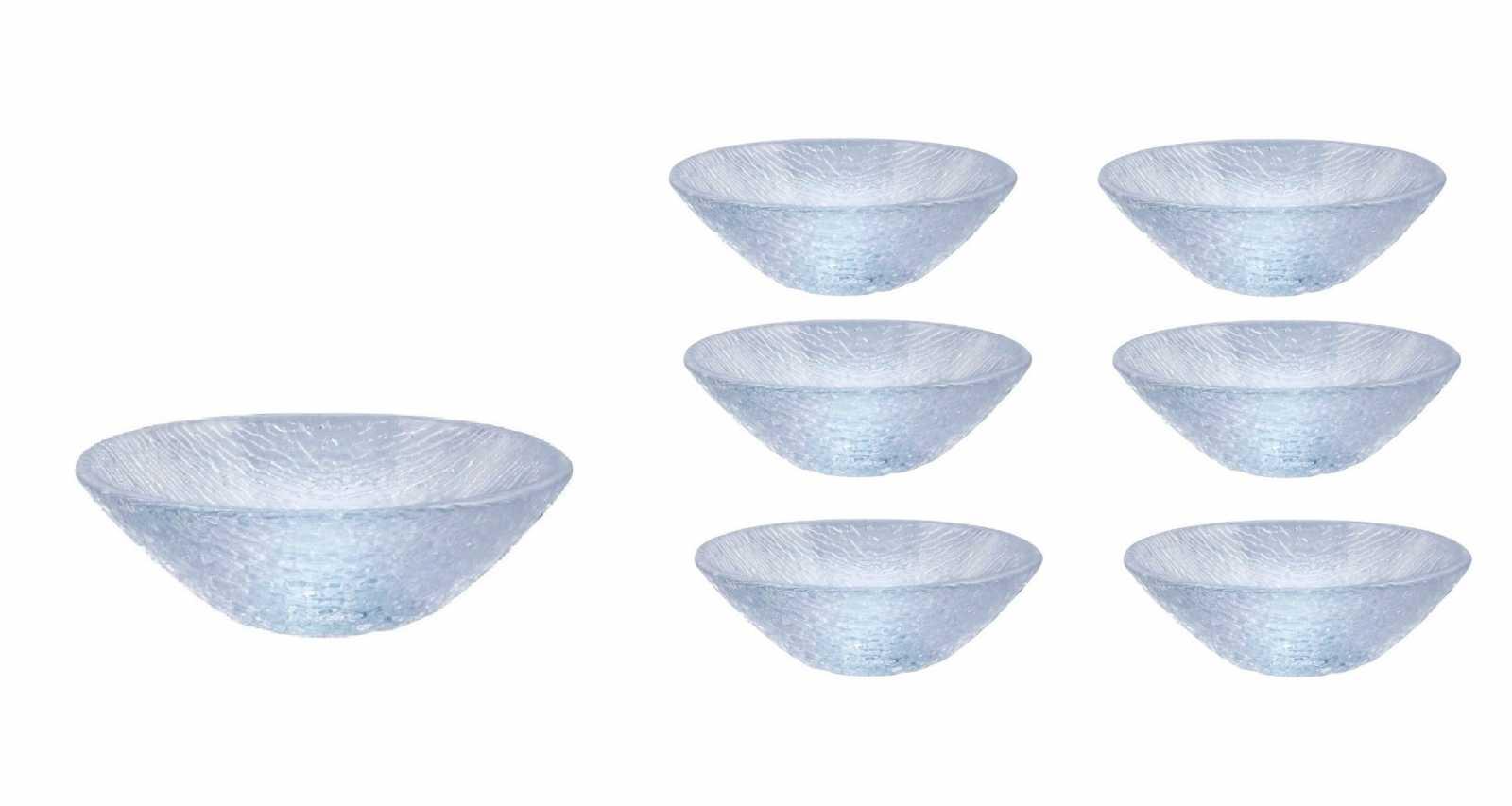 Онлайн каталог PROMENU: Набор: фруктовница и 6 пиал IVV, прозрачный, 7 предметов IVV 7857.1