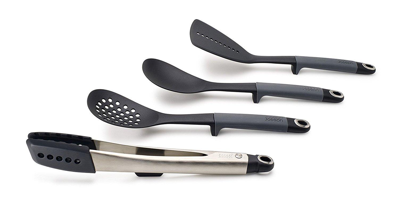 Онлайн каталог PROMENU: Набор из 4 кухонных инструментов elevate с щипцами без подставки Joseph Joseph, серый, 4 предмета Joseph Joseph 10152