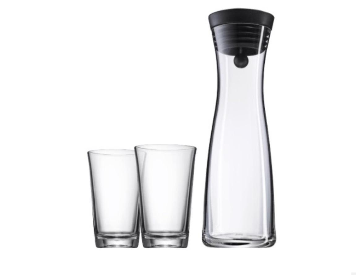 Онлайн каталог PROMENU: Набор: карафе 1 л и 2 стакана по 0,25 л WMF Basic, 3 штуки в наборе WMF 06 1770 9994 PROMO