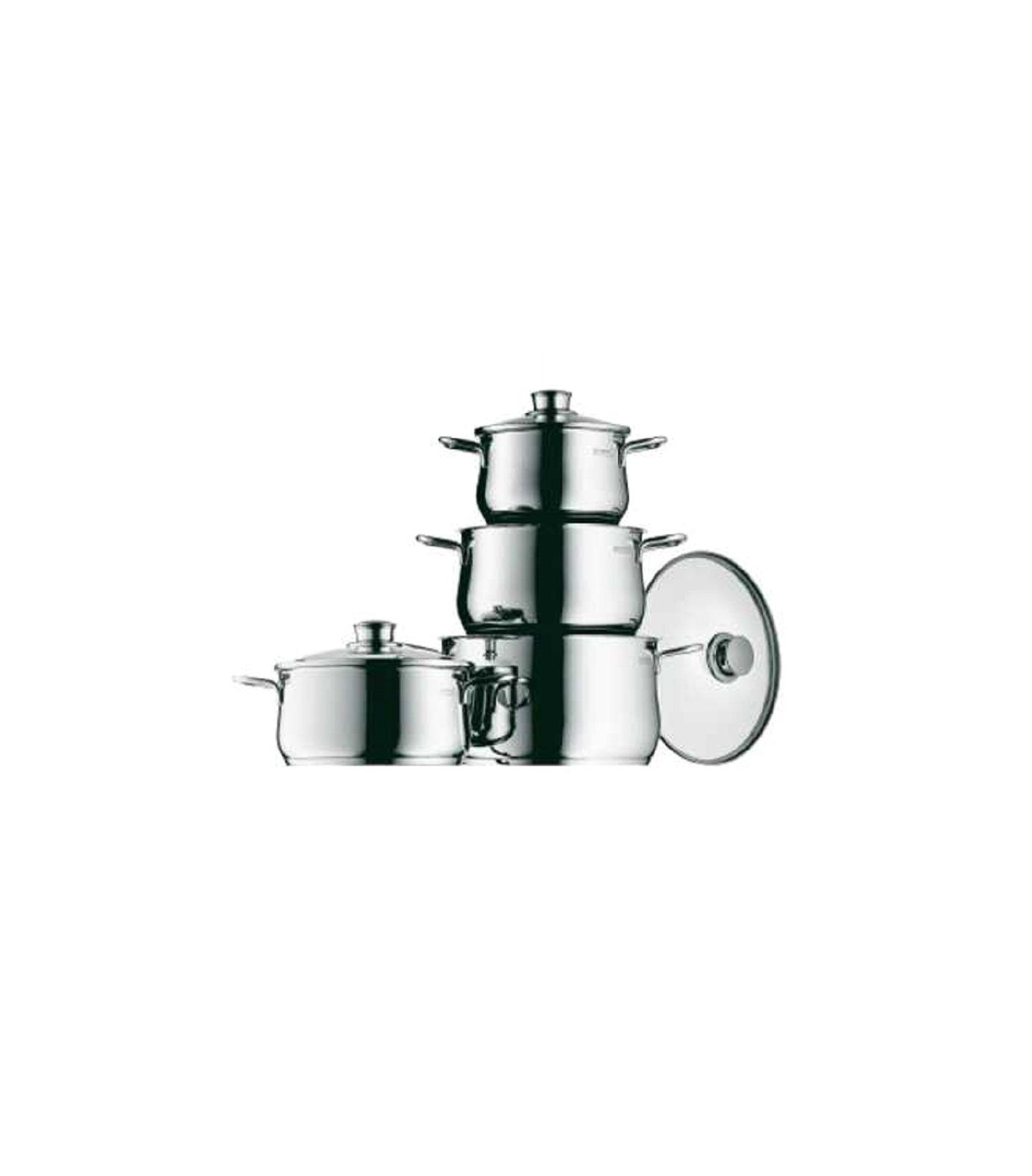 Набор кастрюль с крышками WMF DIADEM PLUS, серебристый, 4 предмета WMF 07 3004 6040 фото 1