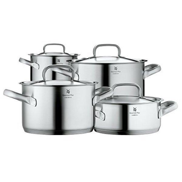 Онлайн каталог PROMENU: Набор кастрюль с крышками WMF Gourmet Plus, 4 штуки в наборе (20 см х 2,5 л; 16 см х 1,9 л; 20 см х 3,9 л; 24 см – 5,7 л) WMF 07 2004 6030