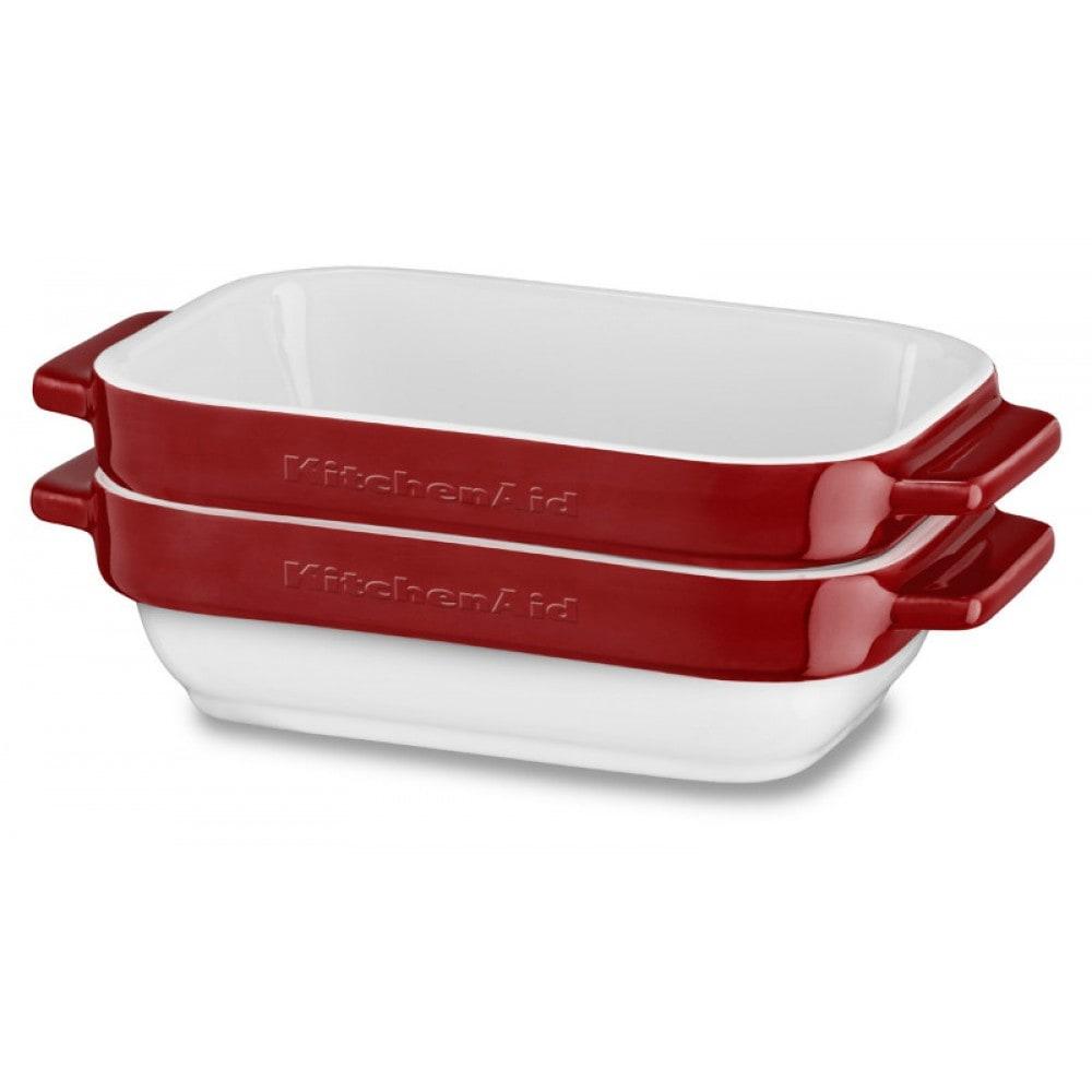 Онлайн каталог PROMENU: Набор керамических емкостей для запекания KitchenAid Ceramics, объем 450 мл, 2 шт., красный KitchenAid KBLR02MBER