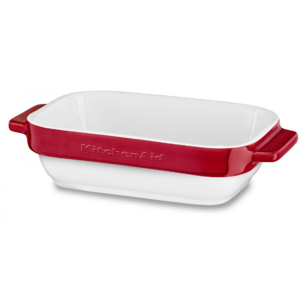 Набор керамических емкостей для запекания KitchenAid Ceramics, объем 450 мл, 2 шт., красный KitchenAid KBLR02MBER фото 1