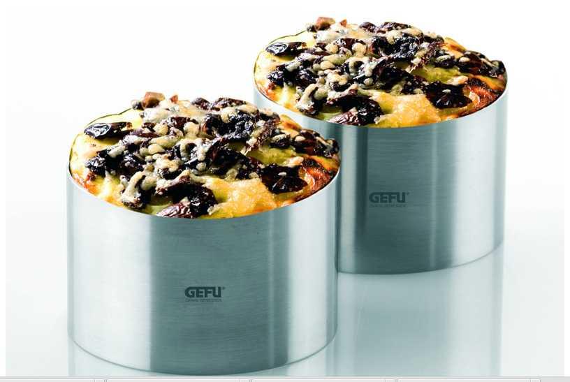 Набор колец для закусок и десертов GEFU Kitchen Aids, серебристый, 2 штуки GEFU 12160 фото 3