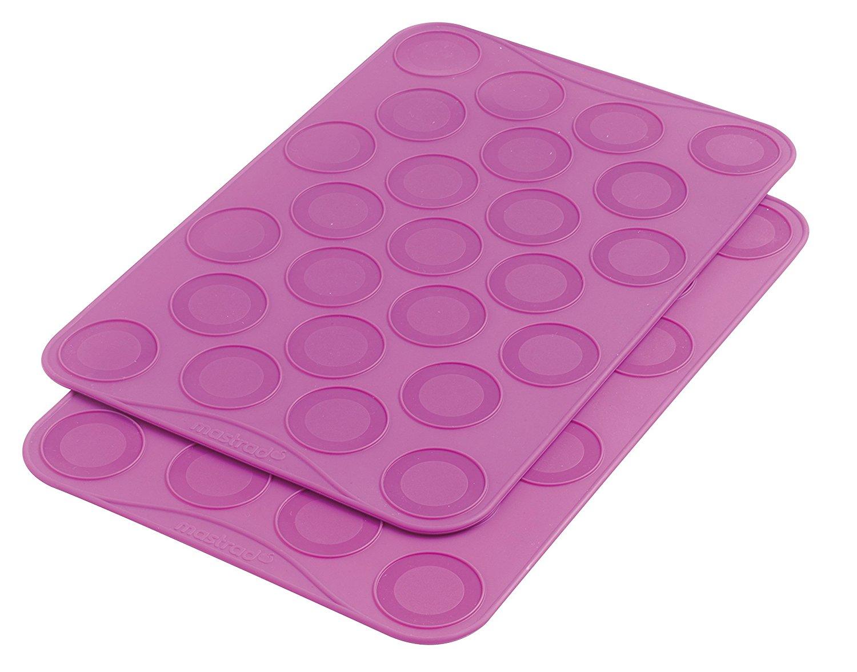 Онлайн каталог PROMENU: Набор ковриков кондитерских для макарун Mastrad, 20х30 см, 25 ячеек на листе, фиолетовый, 2 штуки                               F45520