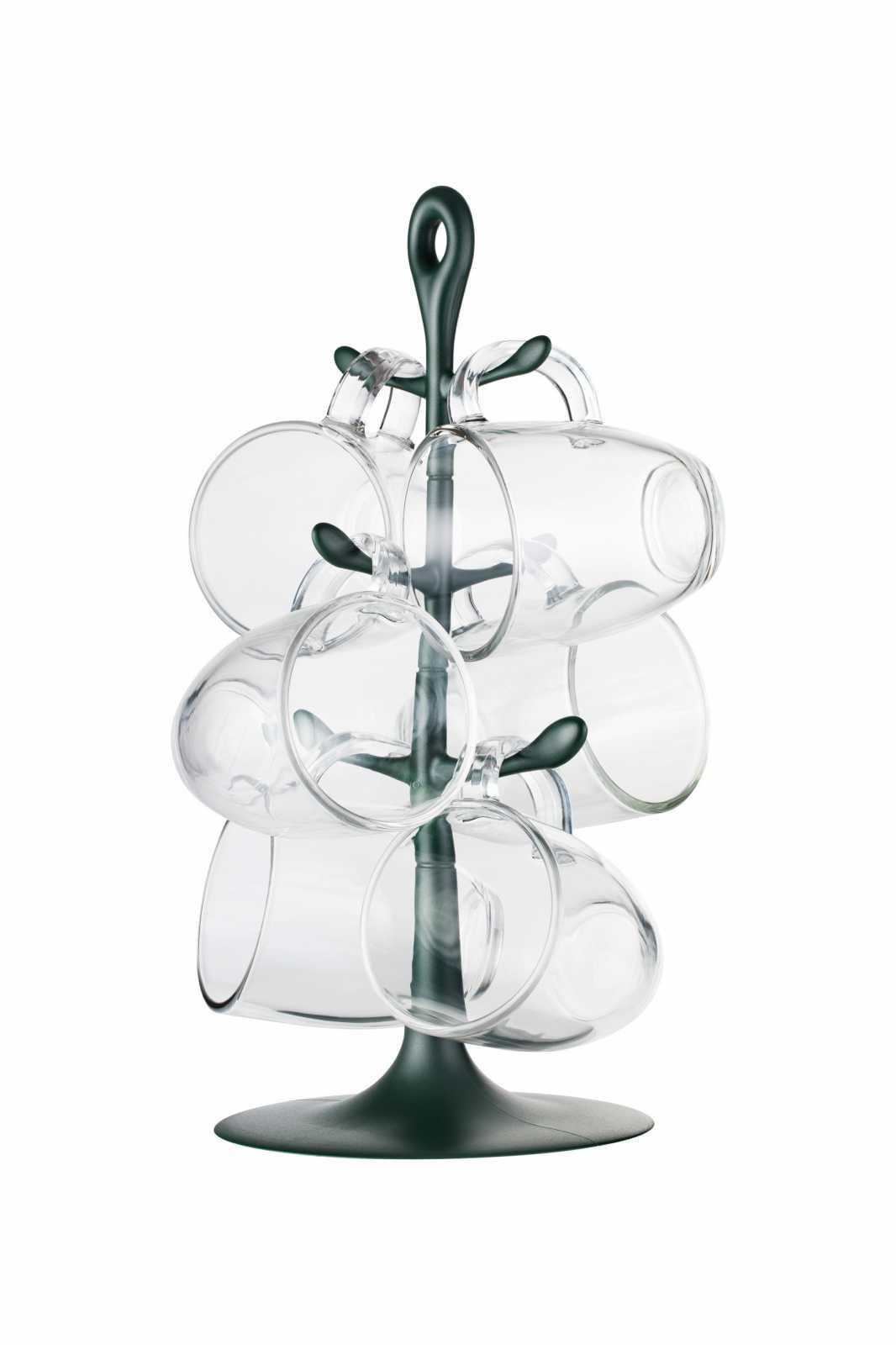 Онлайн каталог PROMENU: Набор кружек на подставке Bodum, 6 шт, темно-зеленый Bodum K2110-946-Y17