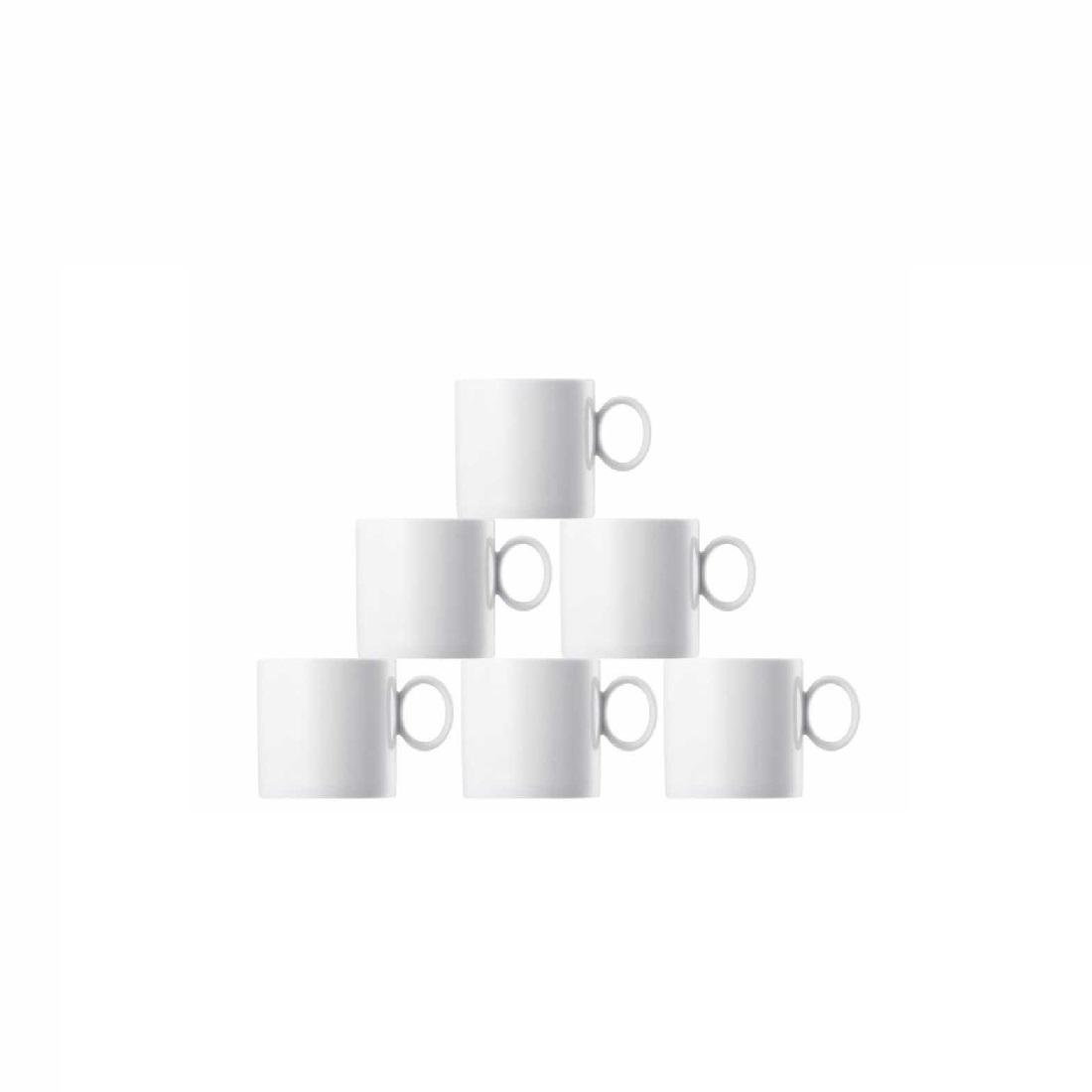 Набор кружек фарфоровых Rosenthal LOFT , белый, 6 штук Rosenthal 11900-800001-29217 фото 1