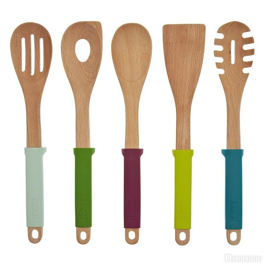 Набор кухонных инструментов  Joseph Joseph Elevate, carousel деревянный с подставкой, разноцветный, 5 предметов Joseph Joseph 10060 фото 1
