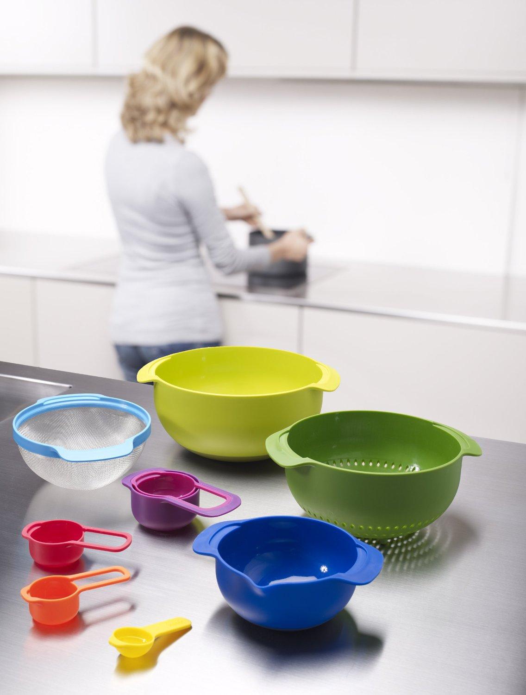 Набор кухонных мисок многофункциональный JOSEPH JOSEPH Nest Plus, разноцветный, 9 предметов Joseph Joseph 40031 фото 8