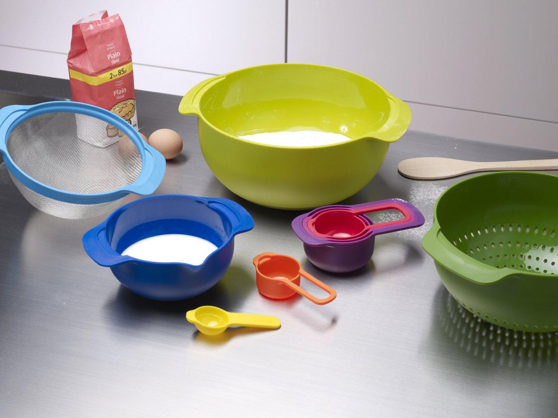 Набор кухонных мисок многофункциональный JOSEPH JOSEPH Nest Plus, разноцветный, 9 предметов Joseph Joseph 40031 фото 9