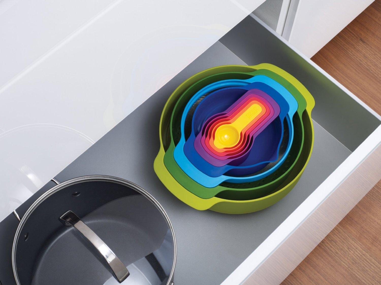 Набор кухонных мисок многофункциональный JOSEPH JOSEPH Nest Plus, разноцветный, 9 предметов Joseph Joseph 40031 фото 1