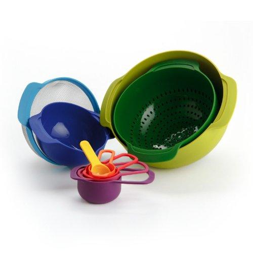 Набор кухонных мисок многофункциональный JOSEPH JOSEPH Nest Plus, разноцветный, 9 предметов Joseph Joseph 40031 фото 6