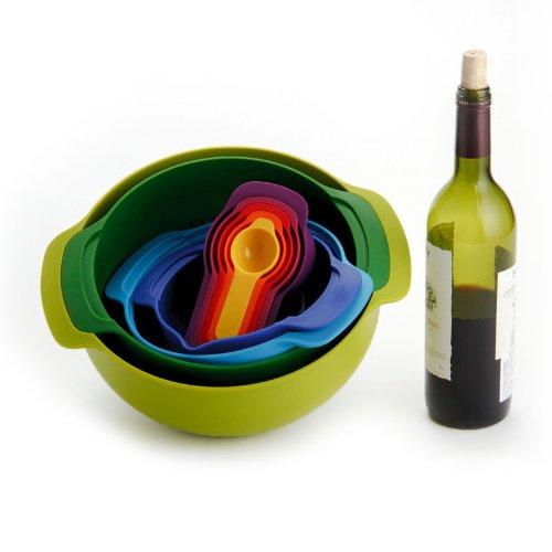 Набор кухонных мисок многофункциональный JOSEPH JOSEPH Nest Plus, разноцветный, 9 предметов Joseph Joseph 40031 фото 7