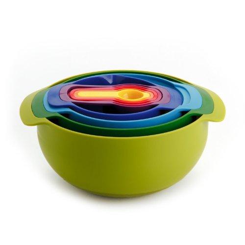 Набор кухонных мисок многофункциональный JOSEPH JOSEPH Nest Plus, разноцветный, 9 предметов Joseph Joseph 40031 фото 4