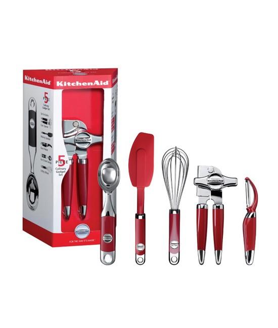 Набор кухонных приборов KitchenAid, красный, 5 предметов KitchenAid KM412ER фото 2