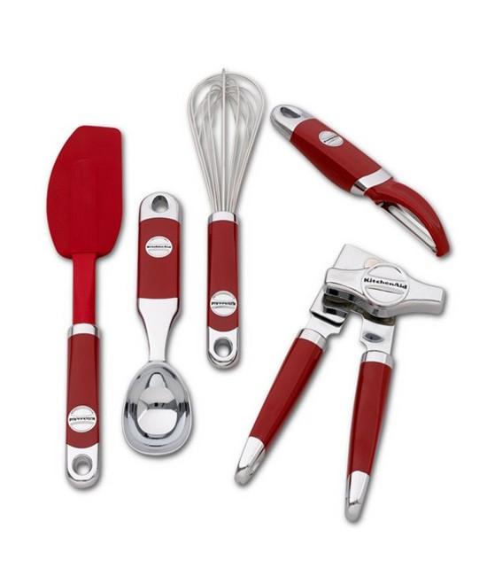Набор кухонных приборов KitchenAid, красный, 5 предметов KitchenAid KM412ER фото 1