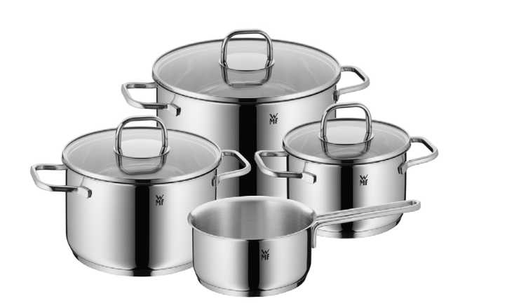 Онлайн каталог PROMENU: Набор кухонной посуды WMF Inspiration, 4 предмета (16 см х 2 л; 20 см х 3,5 л; 24 см х 6 л; 16 см) WMF 17 3007 6380 SP