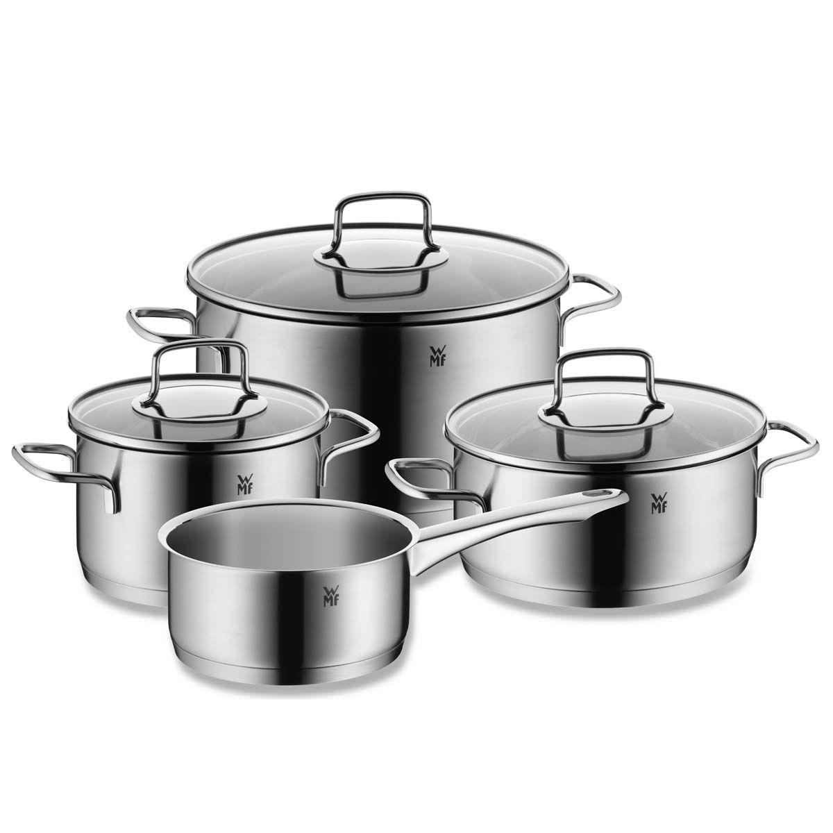 Онлайн каталог PROMENU: Набор кухонной посуды WMF Merano, 4 предмета (16 см х 2 л; 20 см х 3 л; 20 см х 3,7 л; 24 см х 6,5 л) WMF 07 8024 6330