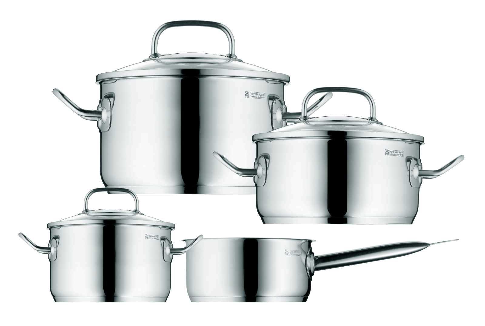 Онлайн каталог PROMENU: Набор кухонной посуды WMF PROFI PLUS, серебристый, 4 предмета WMF 07 1614 6380 PROMO
