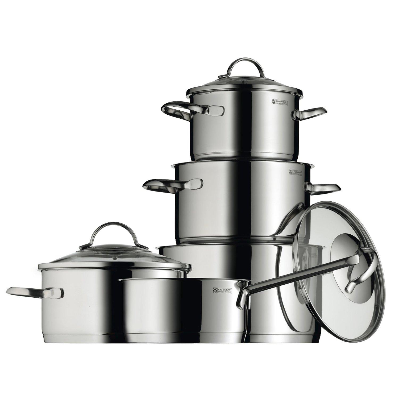 Онлайн каталог PROMENU: Набор кухонной посуды WMF, 5 предметов (16 см х 2 л; 20 см х 2,5 л; 20 см х 3,5 л; 24 см х 6 л; ковш: 16 см х 1,6 л) WMF 07 2105 6380 SP