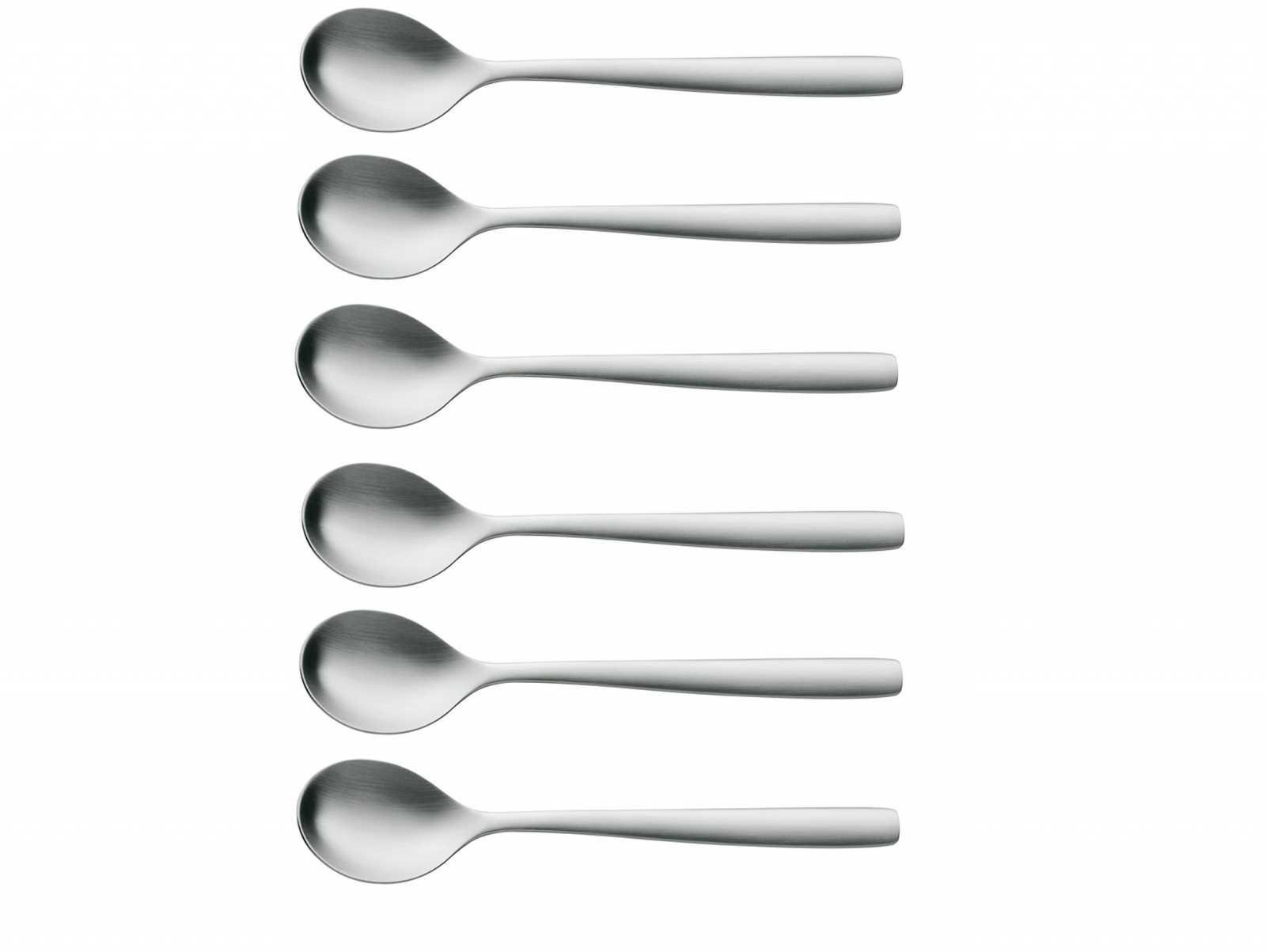 Онлайн каталог PROMENU: Набор ложек для яиц WMF PREGO, серебристый, 6 штук WMF 12 8471 6030