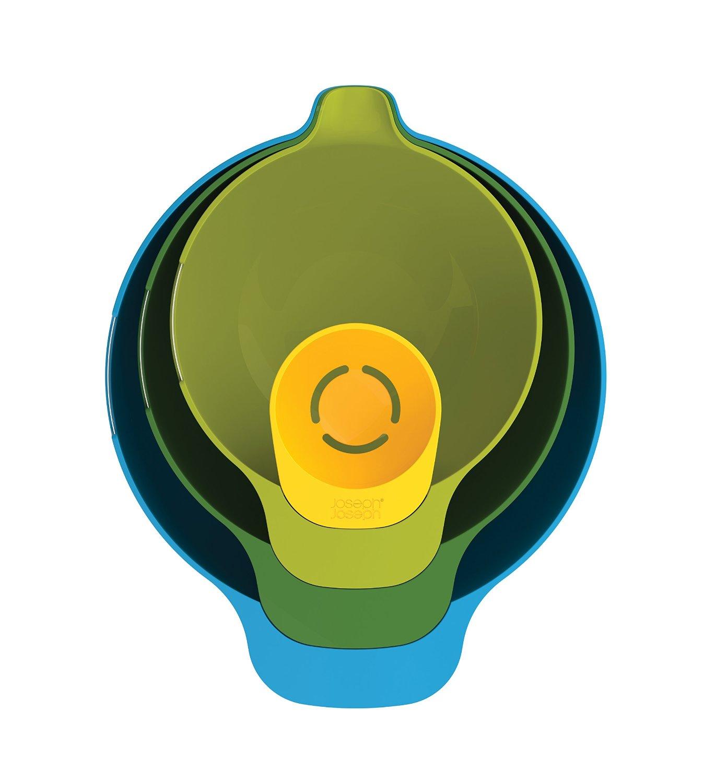 Набор мисок для смешивания (1,4 л, 2, 4 л, 3,8 л) и сепаратор для яйца Joseph Joseph NEST, разноцветный, 4 предмета Joseph Joseph 40015 фото 1