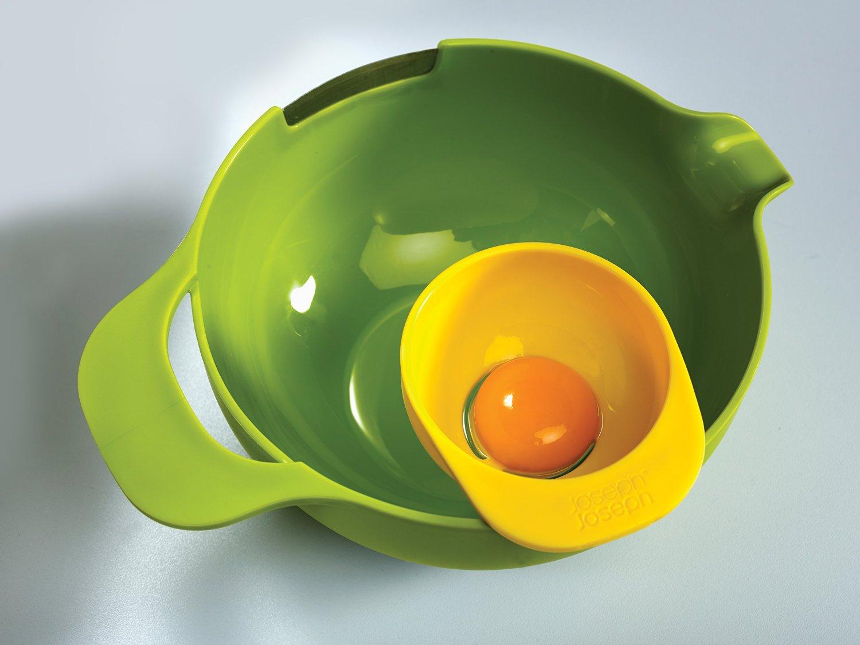 Набор мисок для смешивания (1,4 л, 2, 4 л, 3,8 л) и сепаратор для яйца Joseph Joseph NEST, разноцветный, 4 предмета Joseph Joseph 40015 фото 3