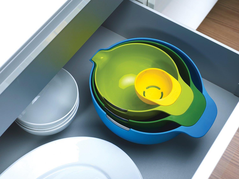 Набор мисок для смешивания (1,4 л, 2, 4 л, 3,8 л) и сепаратор для яйца Joseph Joseph NEST, разноцветный, 4 предмета Joseph Joseph 40015 фото 5