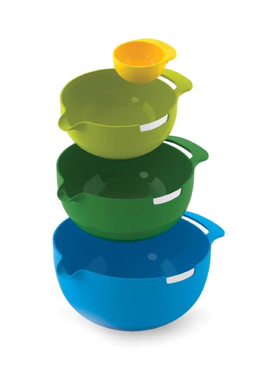 Набор мисок для смешивания (1,4 л, 2, 4 л, 3,8 л) и сепаратор для яйца Joseph Joseph NEST, разноцветный, 4 предмета Joseph Joseph 40015 фото 6