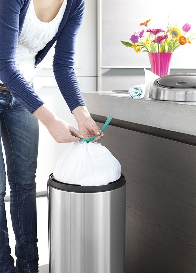 """Набор мусорных пакетов  Brabantia (23/30 л), """"G"""",  40 шт. Brabantia 375668 фото 2"""