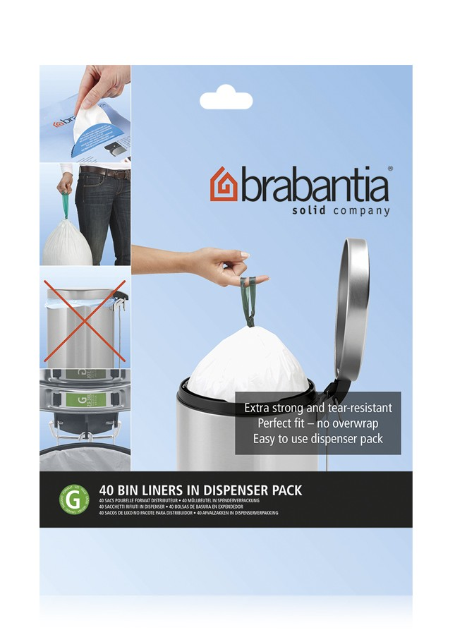 "Онлайн каталог PROMENU: Набор мусорных пакетов  Brabantia (23/30 л), ""G"",  40 шт. Brabantia 375668"