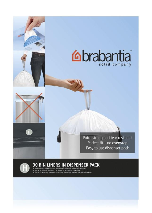 """Набор мусорных пакетов  Brabantia (50/60 л), """"H"""", 30 шт. Brabantia 375705 фото 0"""