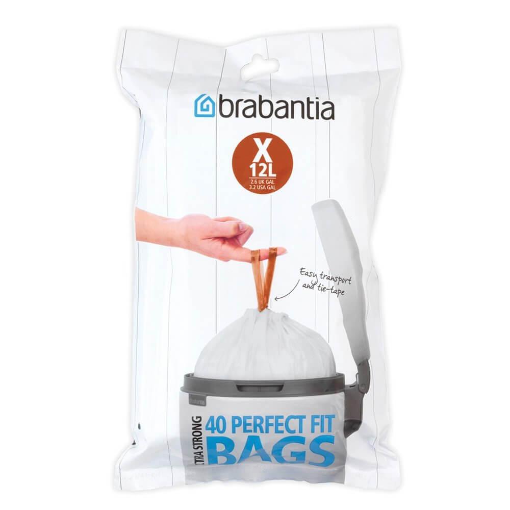 Онлайн каталог PROMENU: Набор мусорных пакетов Brabantia PerfectFit, объем 10-12 л, размер X, 40 шт                               116841