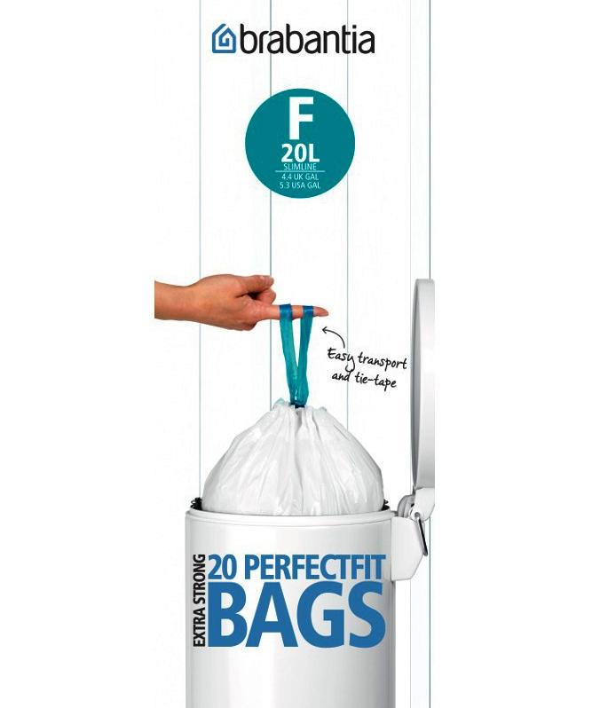 Онлайн каталог PROMENU: Набор мусорных пакетов Brabantia F(20 л), 20 шт. Brabantia 245305