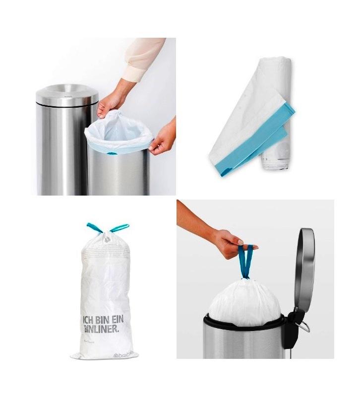Набор мусорных пакетов Brabantia F(20 л), 20 шт. Brabantia 245305 фото 2