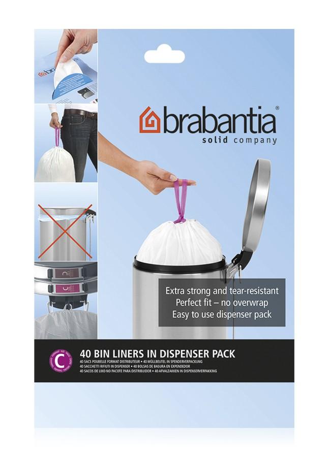 Онлайн каталог PROMENU: Набор мусорных пакетов в диспенсере Brabantia C (10/12 л), 40 шт. Brabantia 361982