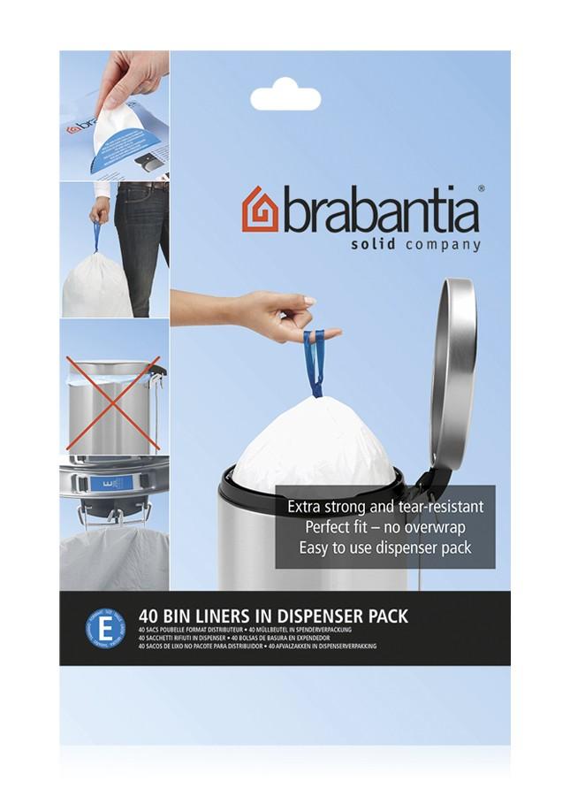 Онлайн каталог PROMENU: Набор мусорных пакетов в диспенсере Brabantia E (20 л), 40 шт. Brabantia 362002