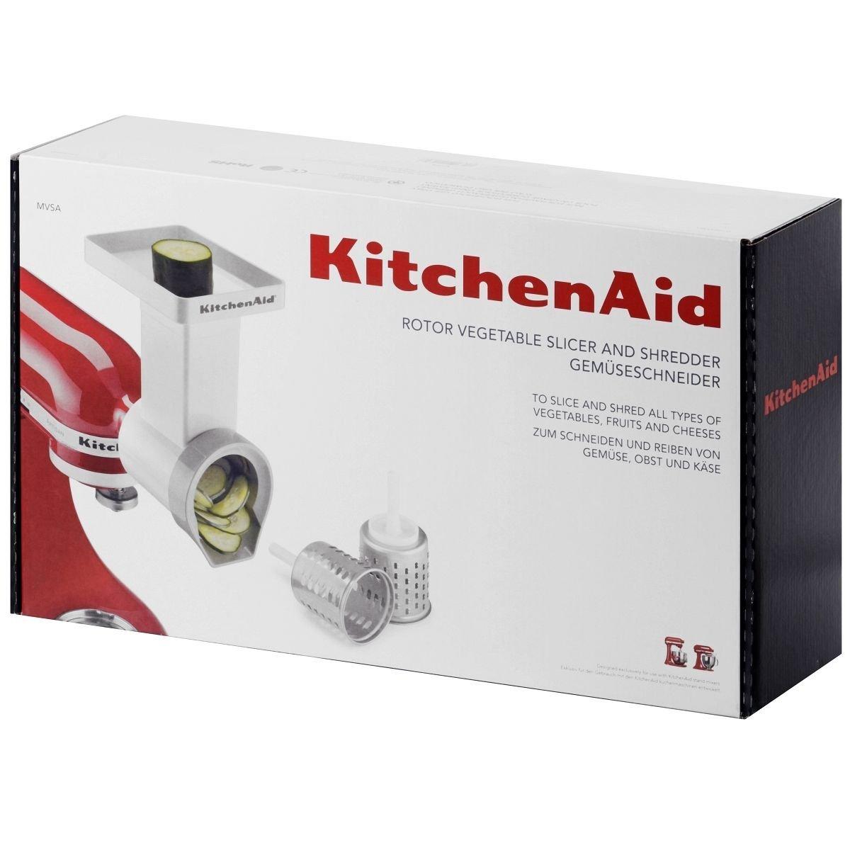 Набор насадок для овощерезки с 3 ножами, 4 пр. KitchenAid  Стальной (MVSA) KitchenAid MVSA фото 1