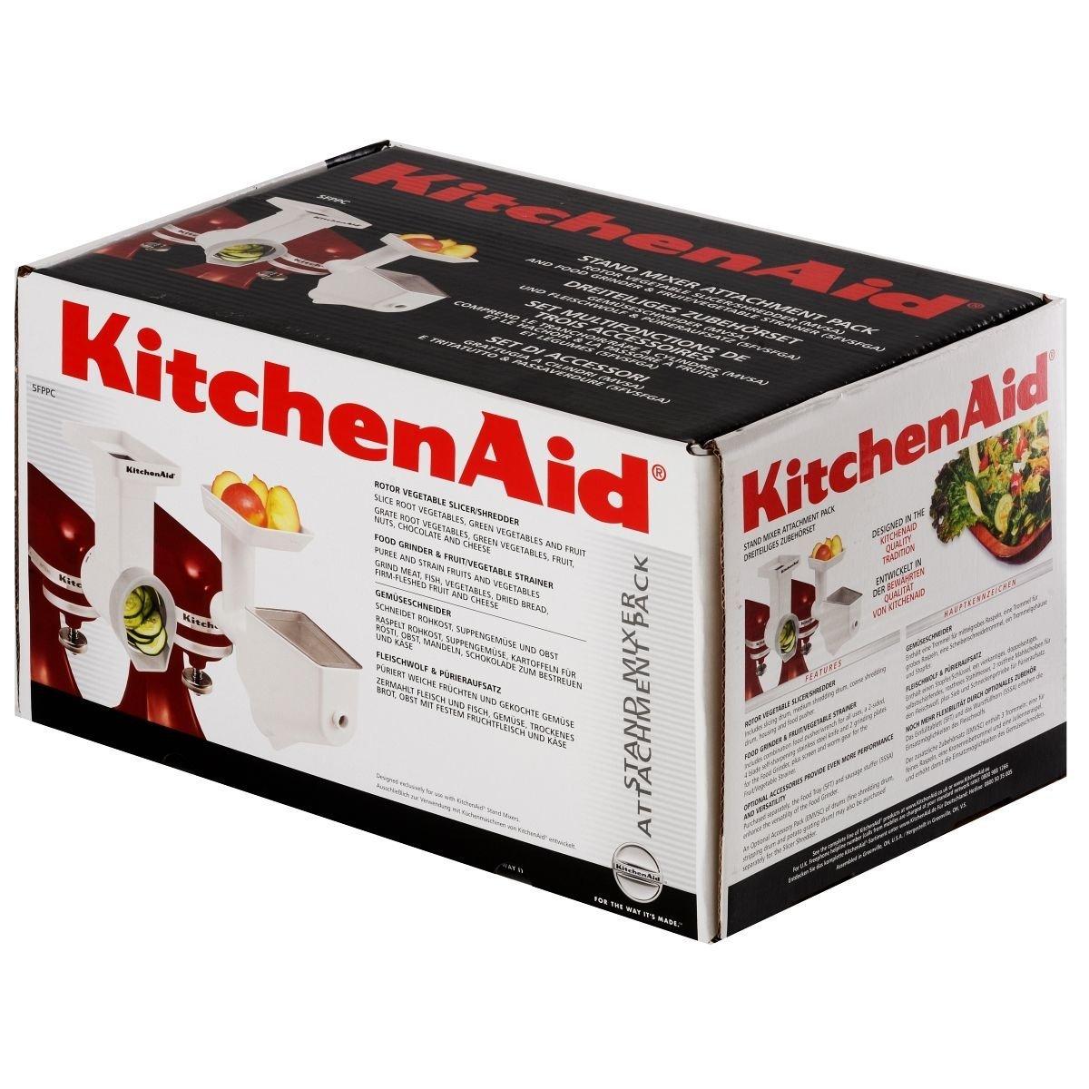 Набор насадок: мясорубка, протирка, овощерезка KitchenAid, белый KitchenAid FPPC фото 2