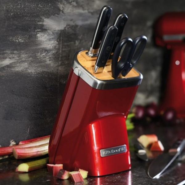 Набор ножей KitchenAid Professional Series, карамельное яблоко, 7 предметов KitchenAid KKFMA07CA фото 3