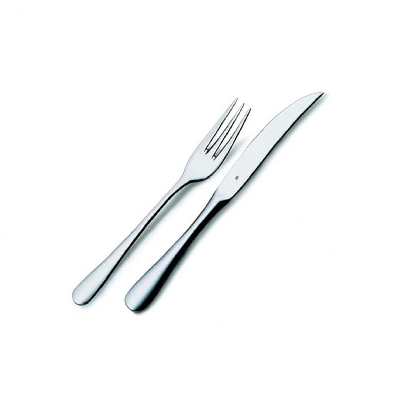 Набор приборов столовых для стейка WMF Tableware, серебристый, 12 предметов WMF 12 8023 9990 PROMO фото 2