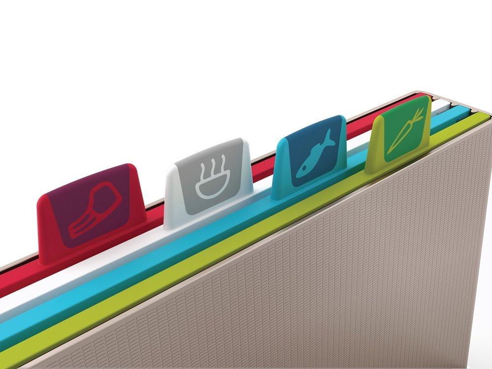 Набор разделочных досок в кейсе Joseph Joseph INDEX, 37,5х28х8 см, светло-серый, 5 предметов Joseph Joseph 60025 фото 2