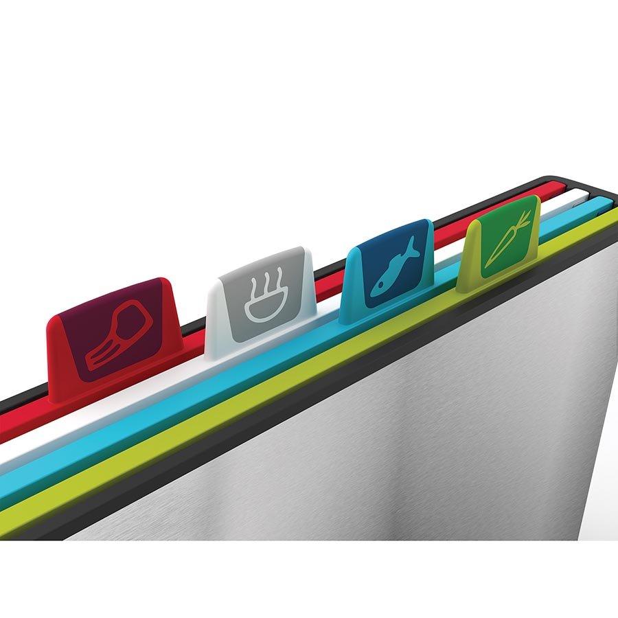 Набор из разделочных досок в стальном кейсе Joseph Joseph Index Steel, 38Х25Х8,5 см, серебристый, 5 предметов Joseph Joseph 60095 фото 5