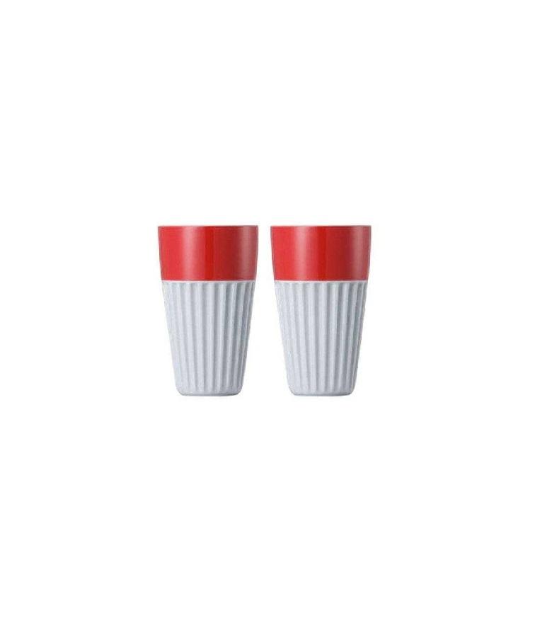 Набор стаканов для капучино Rosenthal SUNNY DAY, объем 0,35 л, красный, 2 штуки Rosenthal 10850-408525-28323 фото 1