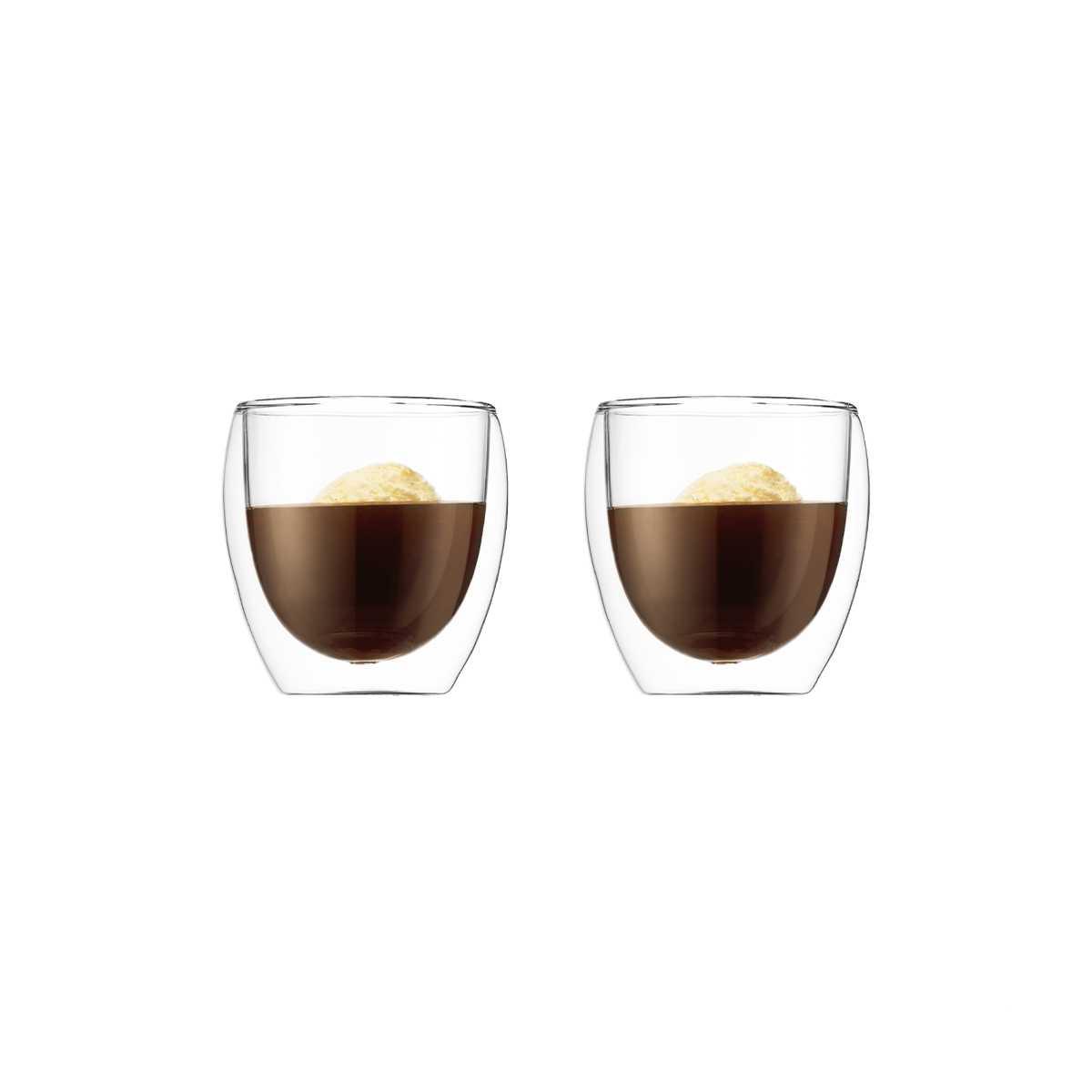 Онлайн каталог PROMENU: Набор стаканов с двойными стенками 0,25 л, 2 шт Bodum Pavina  (4558-10) Bodum 4558-10