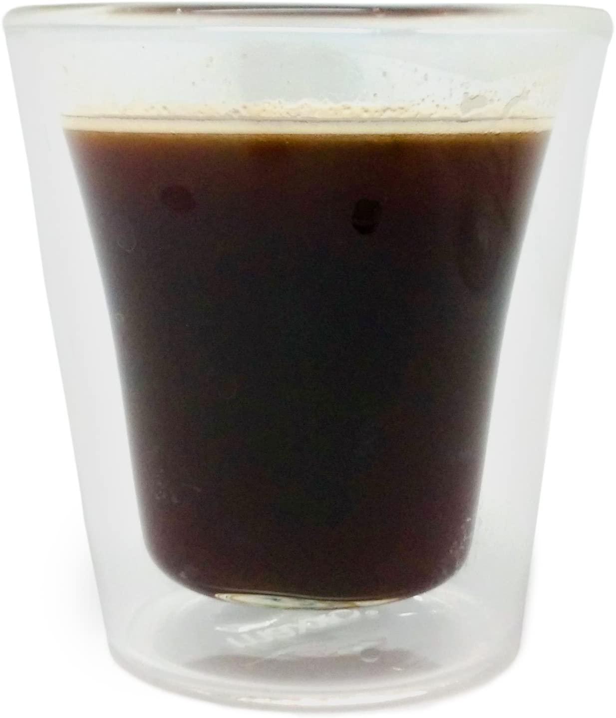 Набор стаканов с двойными стенками Nerthus  DOUBLE WALL CUPSET , 2 шт, объем 0,1 л, прозрачный Nerthus FIH 290 фото 4