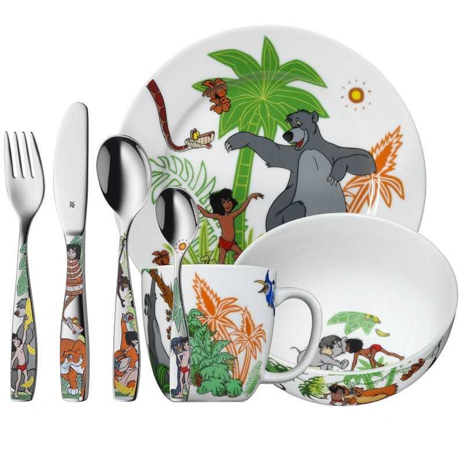 "Онлайн каталог PROMENU: Набор столовый детский ""Маугли"" WMF Jungle Book, разноцветный, 7 предметов WMF 12 8330 9974"