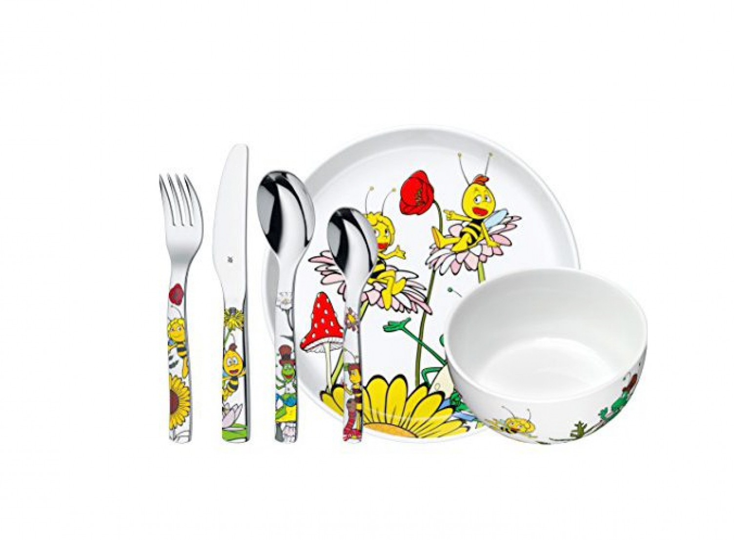 Онлайн каталог PROMENU: Набор столовый детский WMF Biene Maja, 6 предметов WMF 12 9440 9964