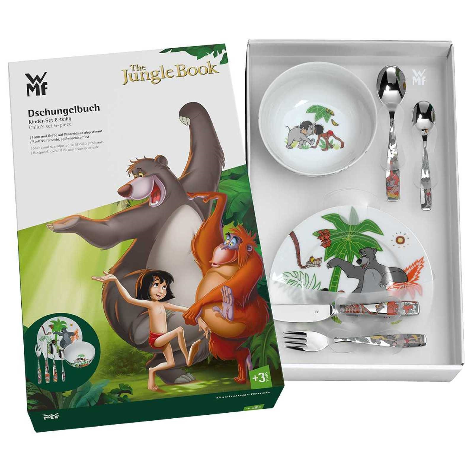 Набор столовый детский 6 пр. WMF Jungle Book  (12 8330 9964) WMF 12 8330 9964 фото 2